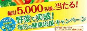 伊藤園 野菜で実感!毎日の健康応援キャンペーン itoen