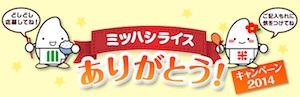 ミツハシライスありがとうキャンペーン2014 ご応募フォーム