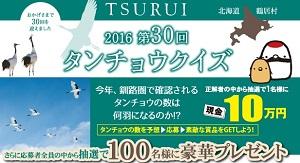 ピッタリ賞には現金10万円☆鶴居村観光協会「2016 第30回 タンチョウクイズ」