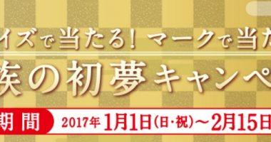 現金100万円が当たるチャンス☆丸美屋「家族の初夢キャンペーン!」