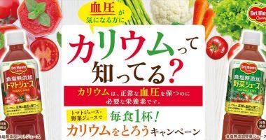 人間ドック受診券50,000円分が当たる☆kikkoman「毎食1杯!カリウムをとろうキャンペーン」