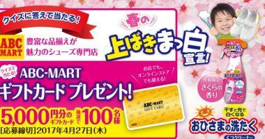抽選で100名様にプレゼント☆エステー「ABC-MARTギフトカードプレゼント」
