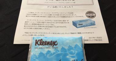 日本製紙クレシア「クリネックス ティシュー アクアヴェールポケット」が当選