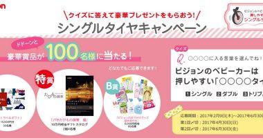 10万円相当ギフトカタログも当たる!Pigeon「シングルタイヤキャンペーン」