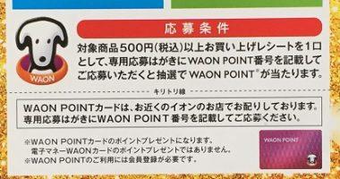 キリン × WAON「WAON POINTプレゼントキャンペーン