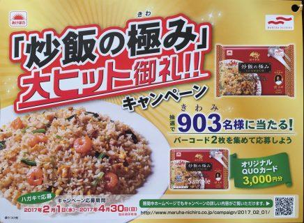 マルハニチロ「炒飯の極み 大ヒット御礼キャンペーン
