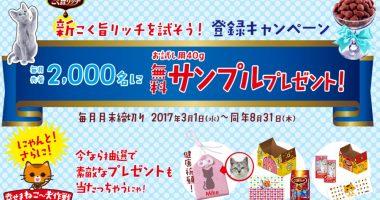 毎月先着2,000名にサンプルプレゼント☆にゃねっとCLUB「新こく旨リッチを試そう!にゃねっとClub新規会員登録キャンペーン」