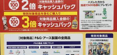 DCMホールディングス・P&G・アース製薬「夢の最大3倍キャッシュバックキャンペーン」