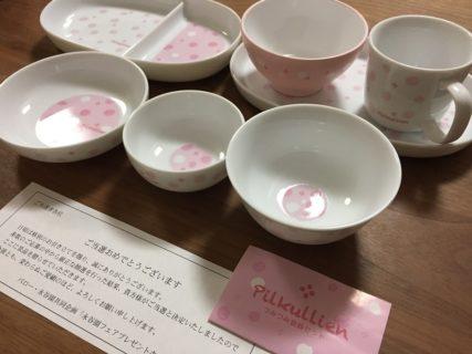 バロー・永谷園のハガキ懸賞で「つみつみ食器セット」が当選
