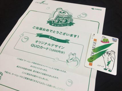小林製薬のハガキ懸賞で「QUOカード 1,000円分」が当選