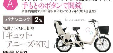 ベネッセの「超人気電動アシスト自転車 総額100万円分大プレゼント!」キャンペーン