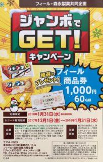 フィール・森永製菓 共同企画「ジャンボでGET!キャンペーン