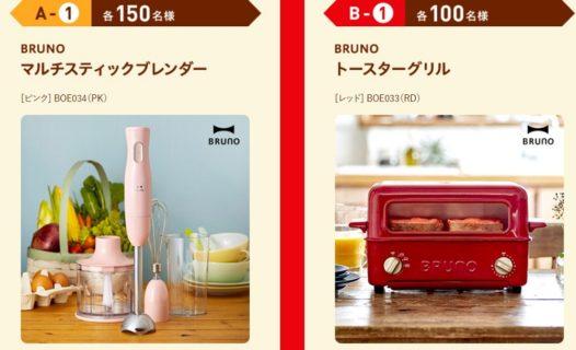 LOTTEの「ガーナアイスを食べて、BRUNO商品を当てよう!キャンペーン