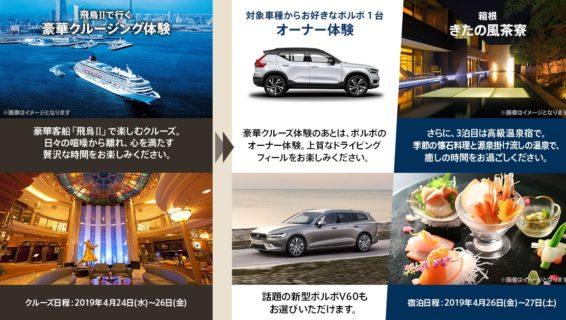 ボルボ・カー・ジャパンの「豪華クルーズ&ドライブ プレゼントキャンペーン