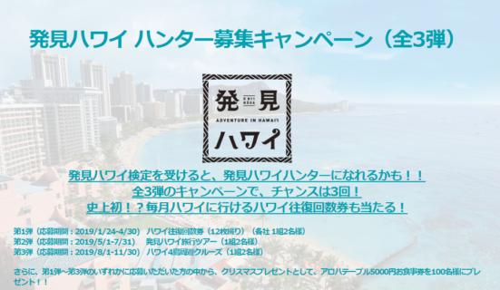 ハワイ州観光局の「発見ハワイ ハンター募集キャンペーン
