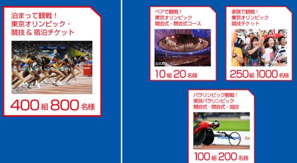 パナソニックの「対象のパナソニック商品を買って応募して東京2020オリンピック・パラリンピック観戦チケットを当てよう!」キャンペーン