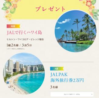 JALの「ハワイ島旅行プレゼントキャンペーン