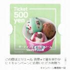 エリエールのキャンペーンで「31アイス500円ギフト券」が当選しました♪