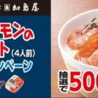 キングサーモンのづけ丼セットが当たる豪華ハガキ懸賞!