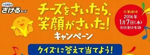 クイズに答えて当てよう!/チーズをさいたら、笑顔がさいた!雪印北海道100 さけるチーズ。|雪印メグミルク株式会社!