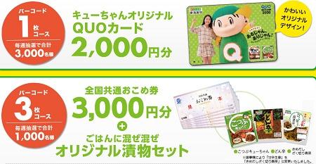 キューちゃん!おいしく新登場!キャンペーン  東海漬物