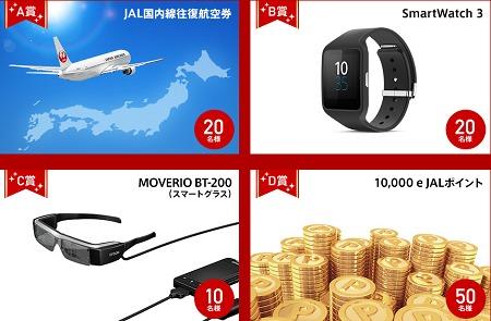 ジャパンエアライン  JALホームページリニューアルキャンペーン