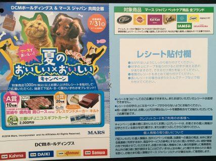 DCM & マースジャパン共同企画「夏のおいしい×おいしいキャンペーン