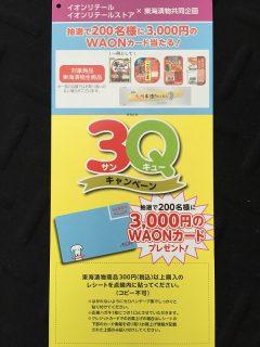 イオンリテール×東海漬物共同企画「3Qキャンペーン