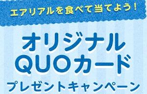 nabisuco オリジナルQUOカードプレゼントキャンペーン エアリアル ヤマザキナビスコ
