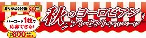 ヨーロピアンシュガーコーン 【ありがとう 発売30年】秋のヨーロピアンプレゼントキャンペーン 2015|クラシエ Kracie