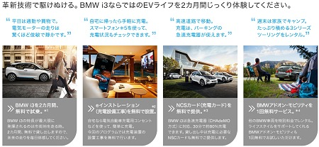 試して安心、これから始めるEVライフ。BMW i3 ライフシミュレーション ビー・エム・ダブリュー